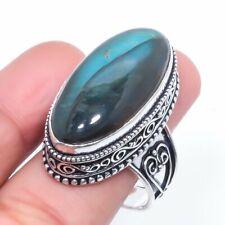 Ring Size 9 z304 Labradorite Gemstone Handmade Gift Jewelry