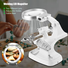 Repair LED Light Loupes Lighted Lamp Desk Magnifier Magnifying Glass Clamp Weld