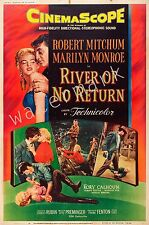 MARILYN MONROE - 1954 - RIVER OF NO RETURN - 12X18 INCH MOVIE POSTER COLLECTABLE