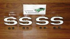 SS Fender Emblem 4pc set 69-72 Chevelle El Camino Malibu 69 70 71 72
