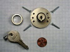 DOM #313-U014-1 REPLACEMENT MULTI-DRAWER DESK LOCK, PIN TUMBLERS, SATIN NICKEL