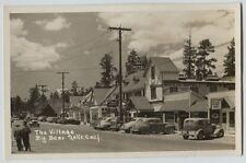 1940's Village Big Bear Lake California street real photo  postcard RPPC