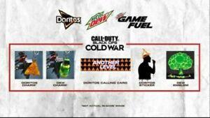 Call of Duty Black Ops Cold War Season 2 Mountain Dew & Doritos 5 Item Code