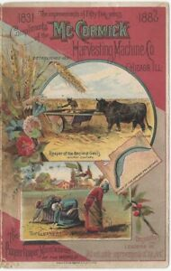 1886 McCormick Reaper Harvesting Machine Co. Color Farm Equipment Brochure