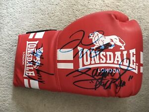 Genuine Hand Signed Boxing Glove By Floyd Mayweather, Manny Pacquiao & Hatton