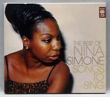 NINA SIMONE Songs To Sing The Best Of 2 CD Set Excellent Condition! MCDLX121