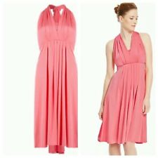 92876f3755c BNWT M S CORAL MULTIWAY DRESS 5 WAYS BRIDESMAID COCKTAIL SIZE 12 RRP £59.00