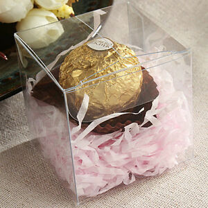 Lot of 200 100 50 Clear Anti Scratch Wedding Party Favor Gift Candy Boxes