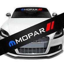 "MOPAR Front Window Windshield Carbon Fiber Vinyl Banner Decal Sticker 51""x8.25"""