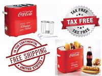 Coca Cola Pop Up Two Hot Dog Toaster Cooker Machine Roller Cage Buns Fast Food