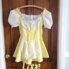 ladies fancy dress. Fun cute size 10 Lemon check . Student fresher week.