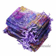 25/50/100pcs Coralline Organza Jewelry Pouch Wedding Party Favors Candy Bags