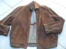Mens M&S BLUE HARBOUR brown suede real leather COAT JACKET size large 42 44""