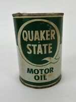 Vintage.Quaker State Metal Motor Oil Can 1 Quart (Empty)