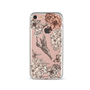 Apple iPhone Case Soft Clear Silicone Slim Fit Shockproof Cover Vt. Hummingbird