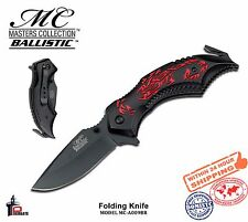 Elk Ridge Folding Knife Spring Ass. Black Blade Handle Red Scorpion MC-A009BR