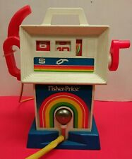 Vintage 1983 Fisher Price Gas Pump Service Station 984 Toddler WORKS SEE VIDEO