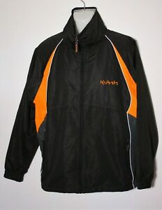 Kubota Mens Size L Shower Proof Black Orange Full Zip Lined EUC