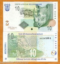 SOUTH AFRICA 10 RAND UNC OLD ISSUE RHINO RARE ONE # 955