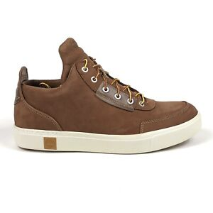 Timberland Amherst High Top Mens 11 Brown Leather Chukka Shoes Boots TB0A1G9B