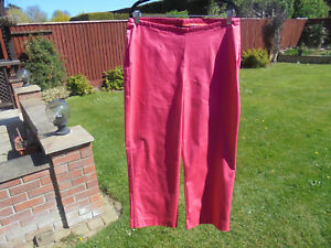 BODEN cropped  trousers size 18 reg  PINK COTTON STRETCH CROPPED TROUSERS =]#