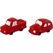 Red Small Figure Miniature Resin Car For Christmas Decoration Crafts Accessories