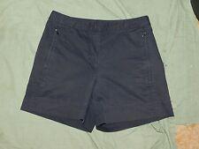 Womens NIKE GOLF DRI FIT swoosh zip pocket flat front stretch shorts sz S EUC
