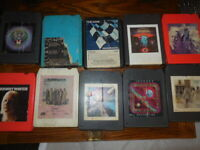 Lot of 12 '70s 8 Track Tapes Rock Nugent Winter Hagar Derringer Journey Tested!