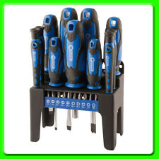 21 Piece Screwdriver & Bit Set With Storage Stand Blue [29865] Draper