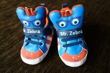 Boys' Pram Shoes Zebra 6-12 Months TESCO Brand New No Tags