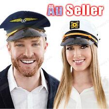 Adult Party Costume Captain Hat Skipper Sailor Ship Captain Cap Air force pilots