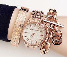 Original Michael Kors Uhr Damenuhr MK3237 NINI Frabe:Rose Gold Kristall NEU