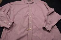 Tommy Hilfiger Red White Mini Check 17 1/2 34/35 Men's Shirt