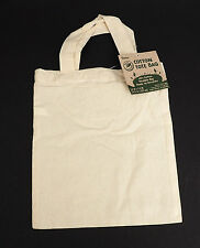 100 SMALL 100% COTTON Tote Bag DIY Crafts LOT Blank ready to decor ECO Friendly