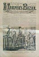 Harpers Bazar July 29 1876 Repository Fashion Newspaper Magazine Catalog Antique