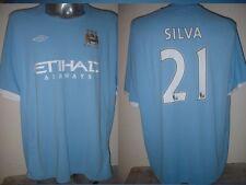 """Manchester City Silva adulto XXL 54"""" Maglia jersey calcio in Spagna UMBRO Top"""