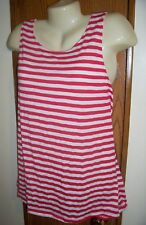XL TANK TOP red & white stripe nautical long cruise boating summer 16 18