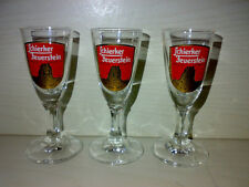 3 Gläser * Schierker Feuerstein Halbbitter * 2cl Schnapsgläser KULT TOP LOOK ->
