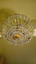 Lampadario, Plafoniera, stile impero, anni 50, In bronzo e cristalli