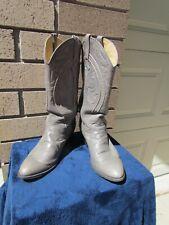 Vintage Men's Dan Post 8.5 C Grey Cowboy Boots