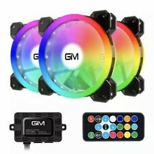 RGB Case Fans 3 Pack, GIM 120mm Chassis (366 Modes with Controller and...