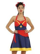 Her Universe Captain Marvel Dress Halter Costume Juniors Cosplay size: MEDIUM
