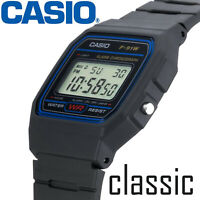 CASIO F91W klassisch Armbanduhr - Digital LCD Sports Chronograph Alarm Stoppuhr