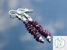 Garnet Natural Chip Gemstone Earrings Drop Quartz Crystal Chakra Healing Stone