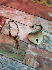 Lock and Key Pendant Antiqued Bronze Heart Lock Padlock Pendant Key to my Heart