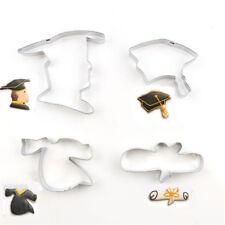 4X Graduation Seasons Stainless Steel Cookie Cutters Fondant Mold Cake Decor MW