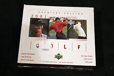 Tiger Woods 2001 Upper Deck Premiere Edition -  Un Opened Factory Boxes