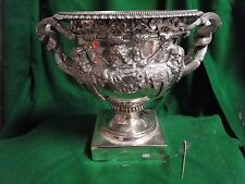 SILVER PLATED WARWICK VASE ANTIQUE LARGE SIZE GREAT QUALITY, VICTORIAN RARE 1860