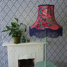 Emma J Shipley Clarke & Clarke Red fabric lampshade standard lamp / ceiling lamp