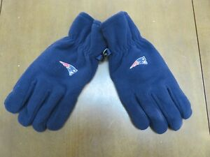 New England Patriots NFL Navy Winter Fleece Mens Gloves By Reebok Apparel Size L